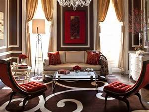25 red living room designs decorating ideas design for Red and cream curtains for living room