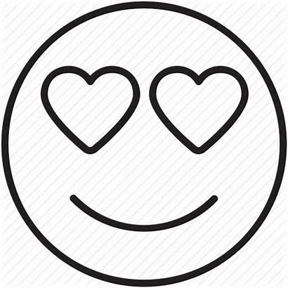 Emoji Coloring Pages Heart Eyes Face Sheets