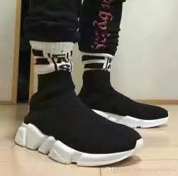 designer sneakers 2017 new and designer shoes brand speed trainer mid black white top
