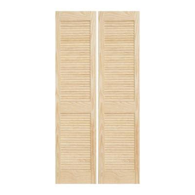 solid wood interior doors home depot jeld wen 30 in x 80 in woodgrain 2 panel louver solid wood interior closet bi fold