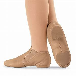 Capezio CG05 split sole slip on leather jazz dance shoe ...
