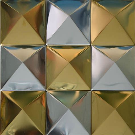 silver mix gold metal mosaic wall tile sticker smmt006