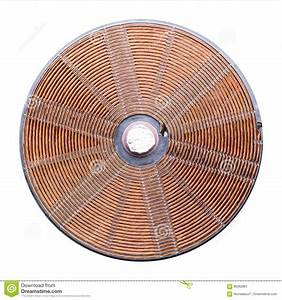 Induction Heater Copper Elements Closeup Stock Photo