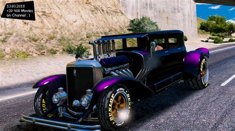 Grand Theft Auto Modification by Btype2 Hotrood Sedan Grand Theft Auto V Mgva Modification