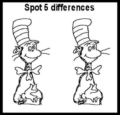 free coloring pages of spot the difference