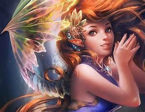 Anime, Digital, Art, Anime, Girls, Fantasy, Art, Wallpapers, Hd, Desktop, And, Mobile, Backgrounds