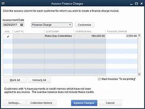 how to assess finance charges in quickbooks 2017 dummies With quickbooks invoice fees