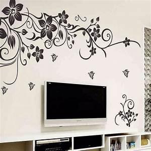 Diy wall art decal decoration fashion romantic flower