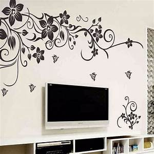 DIY Wall Art Decal Decoration Fashion Romantic Flower Wall ...