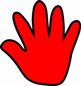 Red Hand Print - ClipArt Best