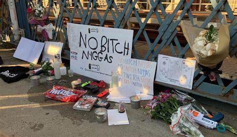 Etika Fans Hold A Memorial At Manhattan Bridge