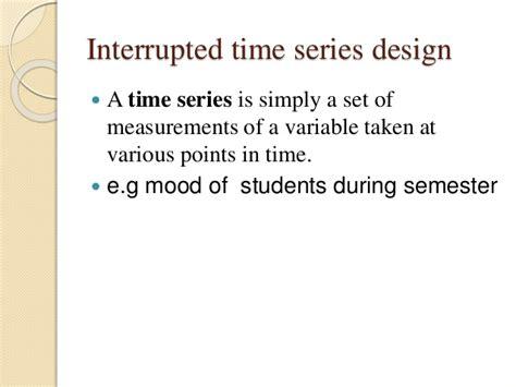 interrupted time series design quasi experimental method
