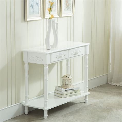 shabby chic foyer table distressed console white table wood buffet entry hall table chic shabby table