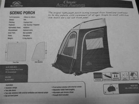Porch Awning Sunncamp Scenic Porch Small Awning