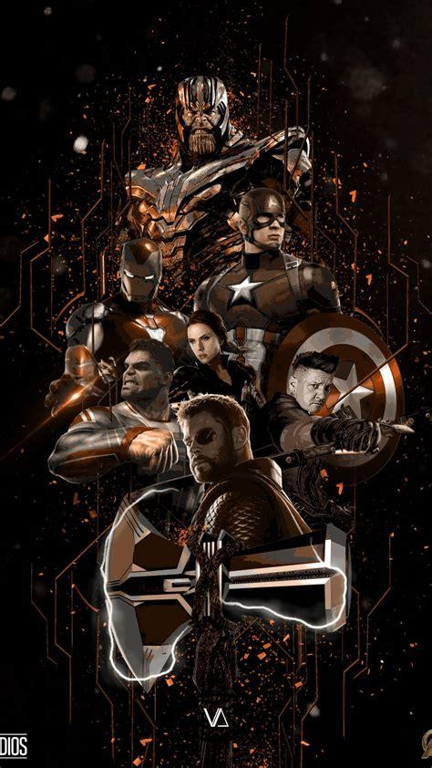 avengers endgame fan art poster iphone wallpaper iphone