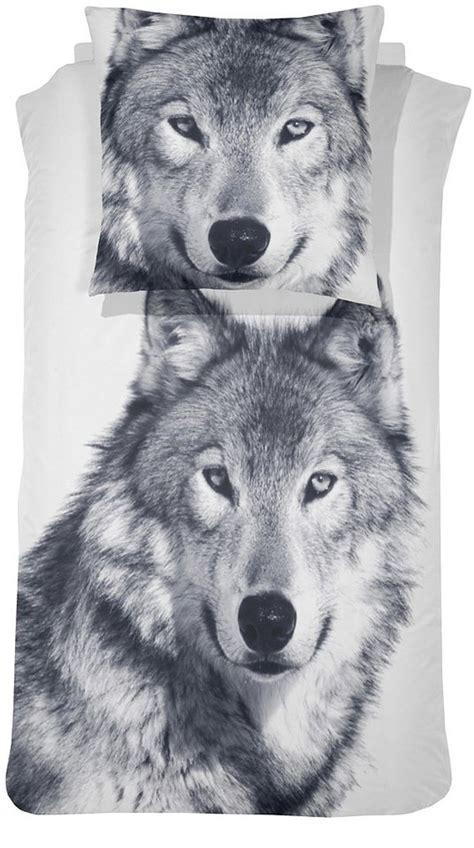bettwaesche wolf damai mit grossem tiermotiv otto