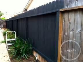 Wood Fence Dark Stain