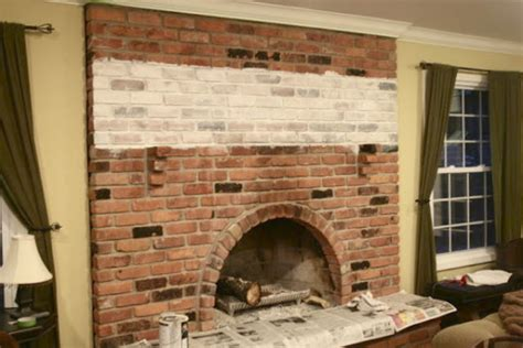 whitewash brick fireplace the yellow cape cod white washed brick fireplace tutorial