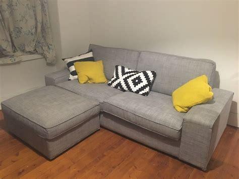 Ikea Kivik Sofa & Footstool Grey