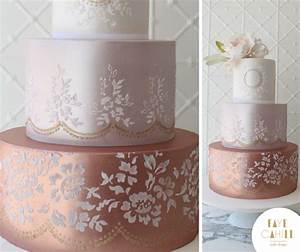 lace templates for cakes - lattice and floral stencils faye cahill cake design