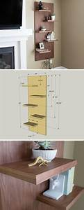 27, Best, Diy, Floating, Shelf, Ideas, And, Designs, For, 2021