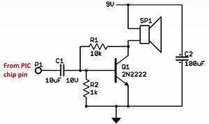 single transistor audio amp hacksterio With circuit 2n2222