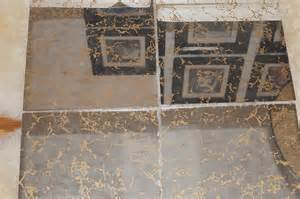 70s mid century modern gold veined glass mirror tiles 1970s