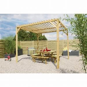 tonnelle en bois massif poka forest style With tonnelle en bois pour jardin
