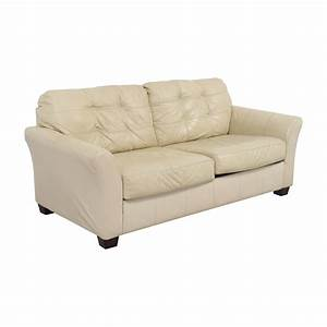 80 off ashley furniture ashley furniture cream leather for Ashley leather sofa