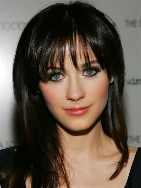 Zooey Deschanel, Before and After   Beautyeditor