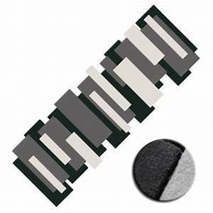 Tapis De Couloir Au Mètre : tapis de couloir noir et blanc pebbles par angelo ~ Dailycaller-alerts.com Idées de Décoration