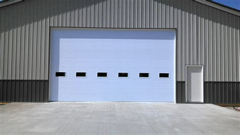 commercial garage door with door commercial garage door gallery door woodworks inc