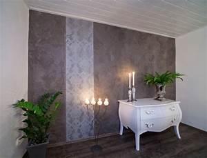 Wandgestaltung Mit Tapeten : wohnraum wandgestaltung mit marmorputz modern ~ Lizthompson.info Haus und Dekorationen