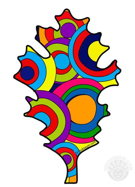 foglia  cerchi colorati kandinsky  bambini