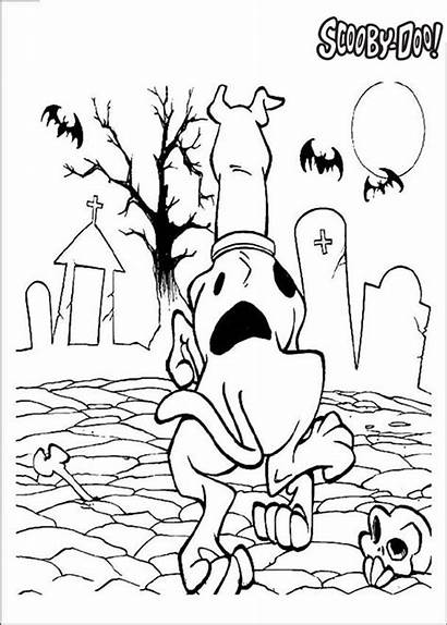 Scooby Doo Coloring Halloween Pages Printable Sheets