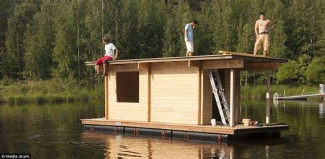 Boat Tower Hammock by The Ingenious Floating Sauna In Finland That You Can Hire