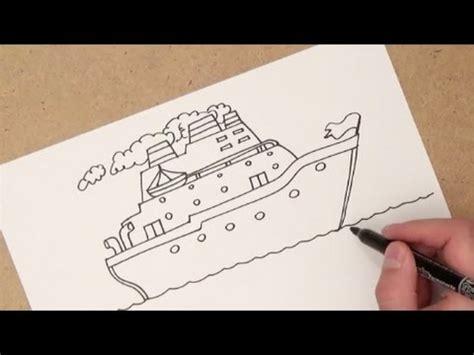 Como Hacer Un Barco A Vapor Pasos by Como Dibujar Un Barco Como Dibujar Un Barco Paso A Paso