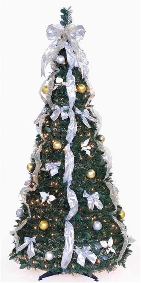 pull up christmas tree with lights 6 ft pre lit pull up decorated collapsible christmas tree