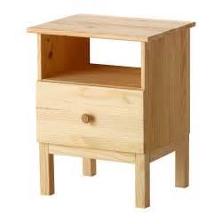 table de chevet bois brut