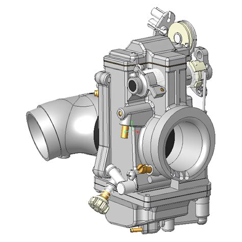mikuni hsr carb  cad model dbbp shop