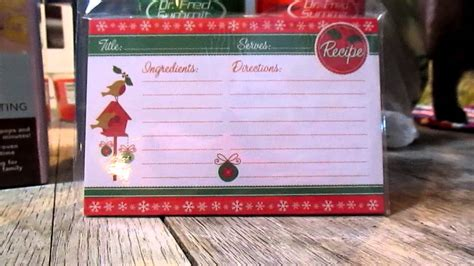 Order today with free shipping. dollar tree christmas recipe cards - YouTube