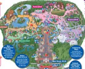 2015 Walt Disney World Magic Kingdom Map