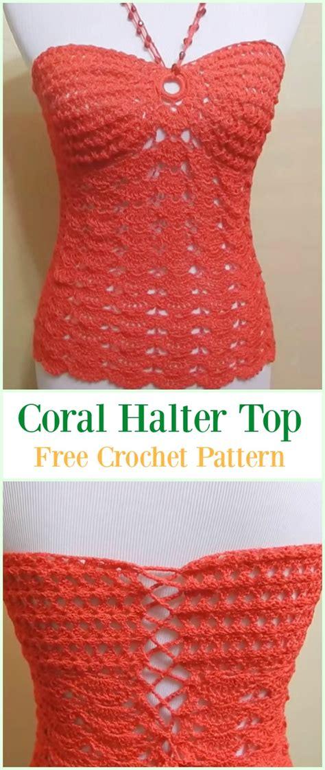 crochet summer halter top  patterns
