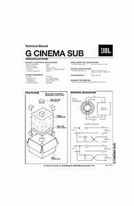 Jbl G Cinema Sub Service Manual  U2014 View Online Or Download