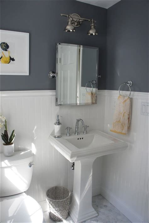 Dark Gray Powder Room Ideas  Bedroom And Bathroom Photo