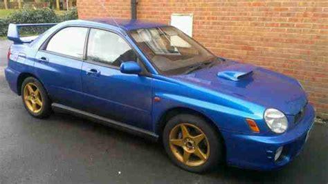 blue subaru gold rims subaru 2001 impreza wrx wr blue gold wheels 60500 miles