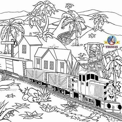 Thomas Train Coloring Steam Engine Tank Printable