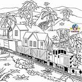 Thomas Train Coloring Engine Tank Diesel Printable Steam Railway Drawing Salty Children Station Adult Dockyard Printables Cgi Royal King Movie sketch template