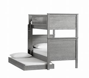 charlie twin over twin bunk bed pottery barn kids With charlie bed pottery barn