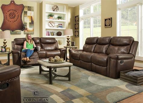 corinthian driftwood  italian leather match reclining